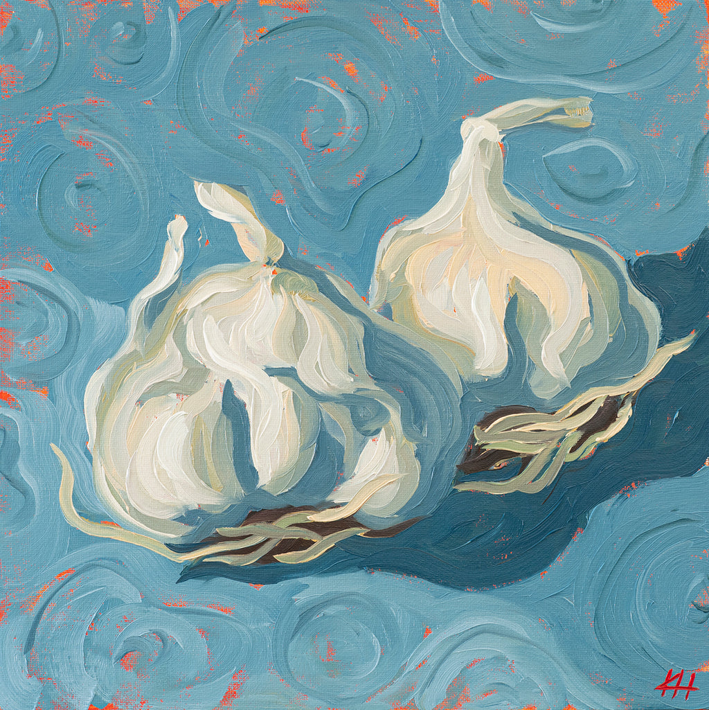 Garlic, Oil Painting