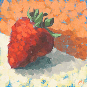 Super Strawberry, Fruit Oil Painting