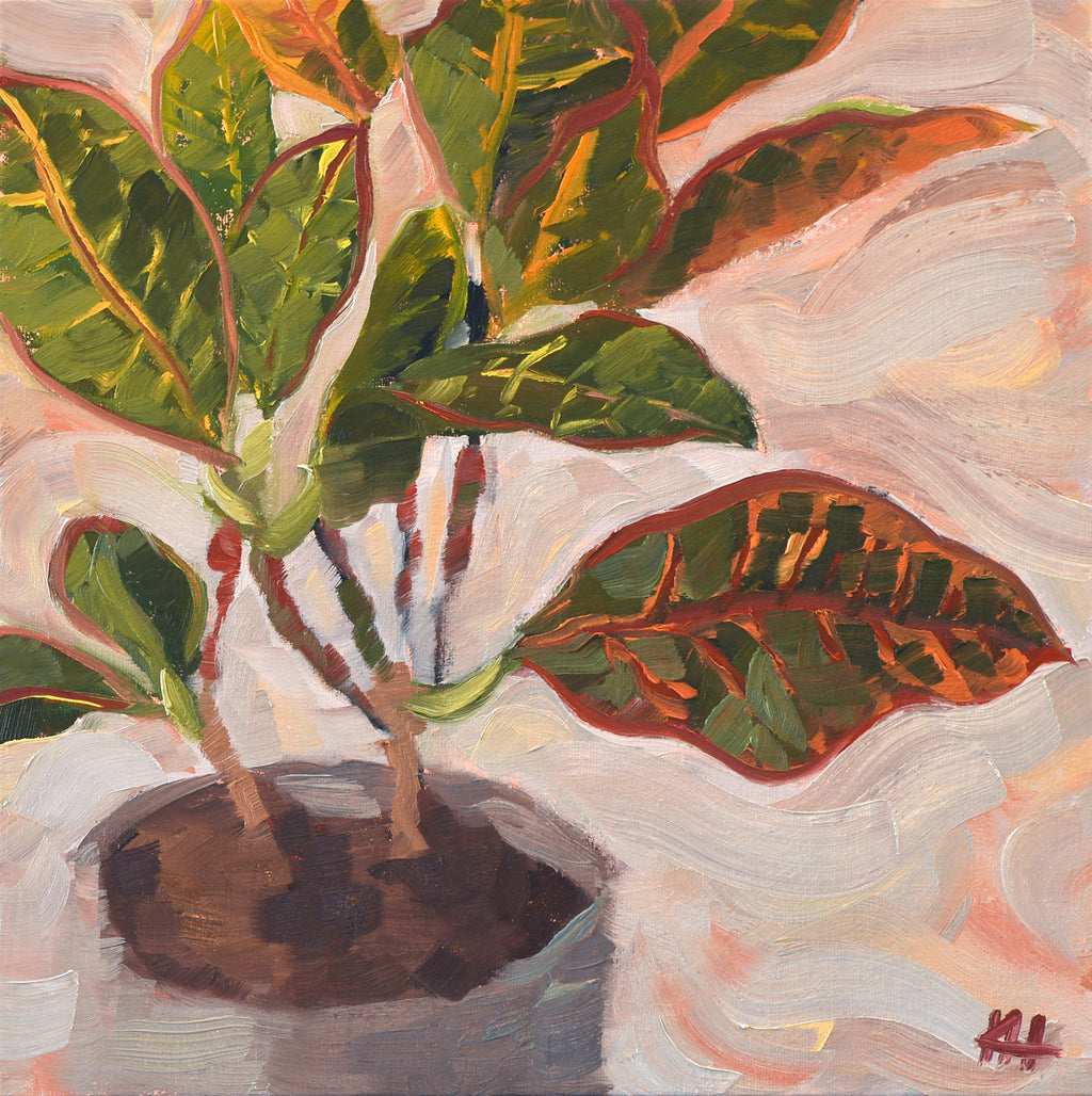 """Taking Root"", Kitchen Canvas Art, Oil Painting Wall Art"