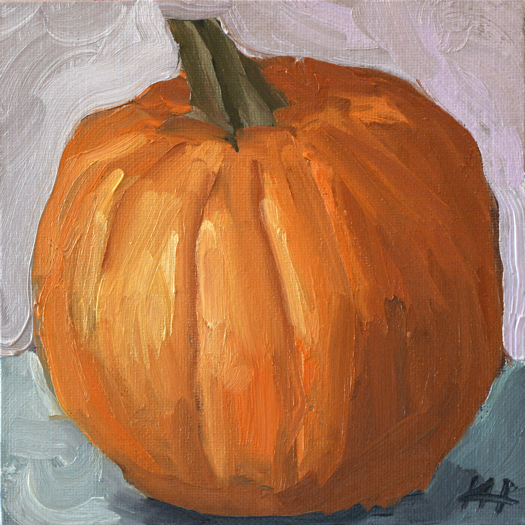 """Little Big Pumpkin"", Kitchen Canvas Art"