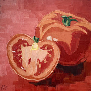 "Kitchen Art, Still Life Painting, ""Tomato Shapes"""