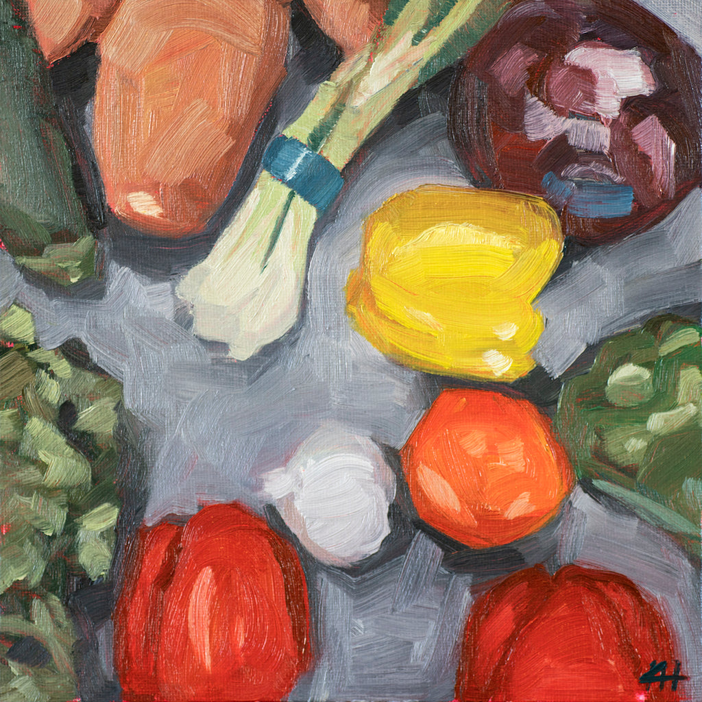 """Meal Prep"", Kitchen Cooking Oil Painting"