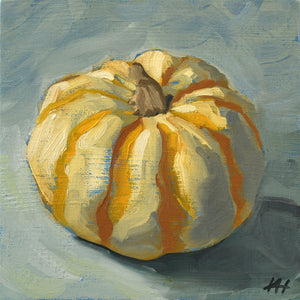 """Zebra"", Pumpkin Still Life Painting"