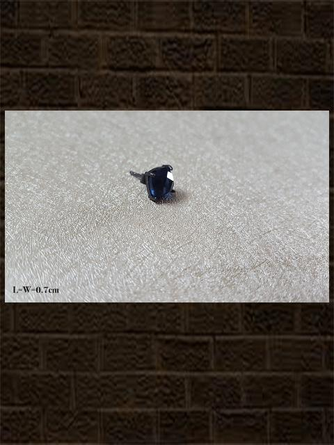 Corrundum blue cultured checker....sterling silver semi precious stone studs in square shape