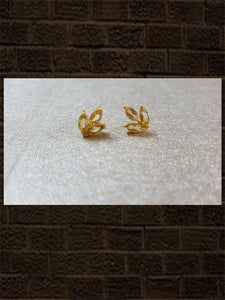 Citrine three leaf stud....