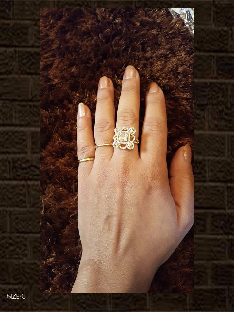AD square shape ring size-8