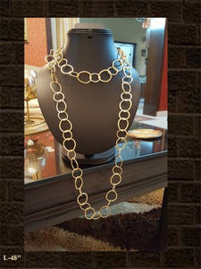 Long golden loop chain(brass)