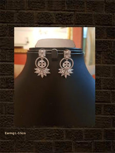 White finish AD earring