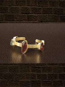 Smoky mehroon 5 natural stone adjustable handcuff