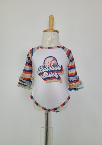 Retro Baseball Sister Body suit