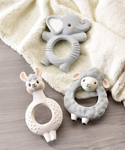 Lil' Llama Characters Natural Rubber Teething Rings