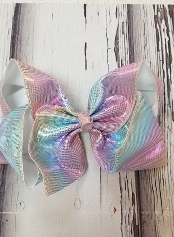 Jumbo Metallic Rainbow Bow