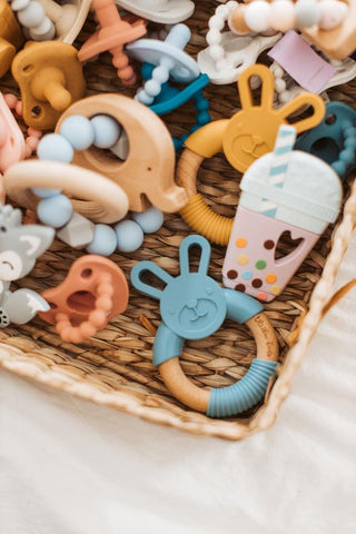 ThreeHearts Silicone/Wood Teethers