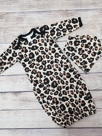 Leopard Gown (Add a monogram)