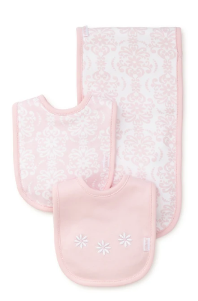 LittleMe Girls Bib/Burp sets