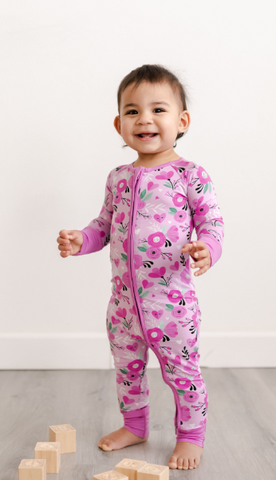 Little Sleepies Sweetheart Floral Coveralls