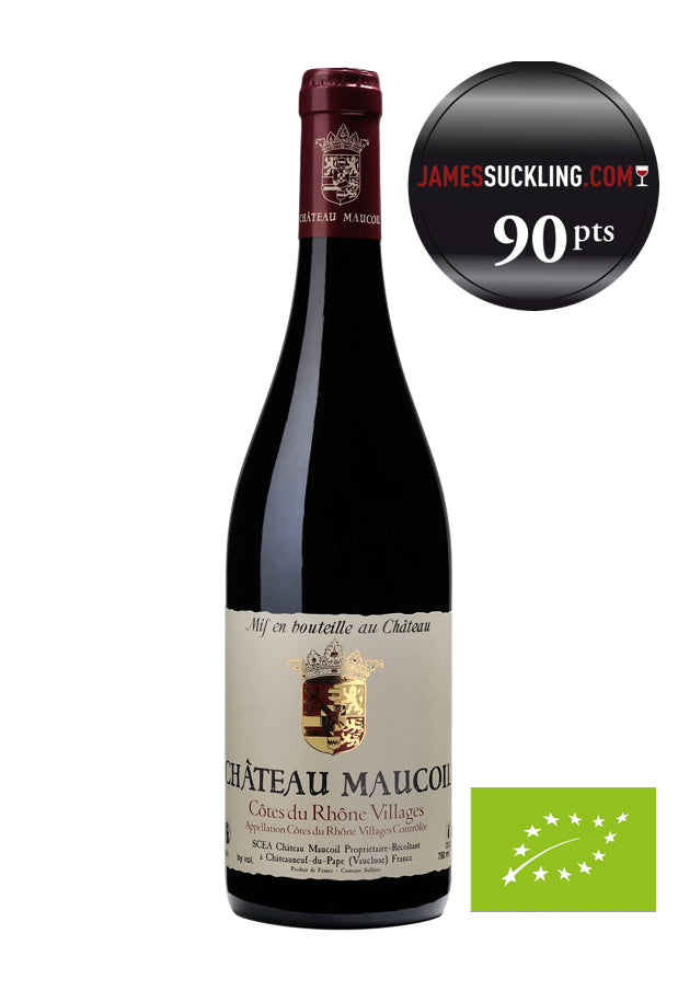 CHATEAU MAUCOIL AOC COTES DU RHONE VILLAGES ROUGE 2020 BIO (6 BTLES)