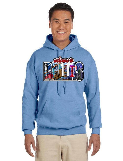 HidalgoUSA_Welcome_To_Dallas_Hoodie_Light_Blue