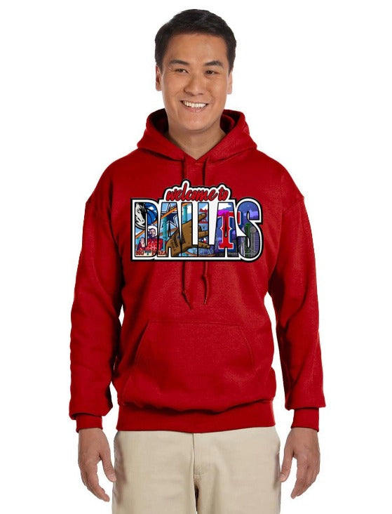 HidalgoUSA_Welcome_To_Dallas_Hoodie_Red