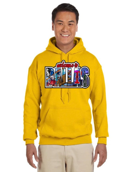HidalgoUSA_Welcome_To_Dallas_Hoodie_Yellow