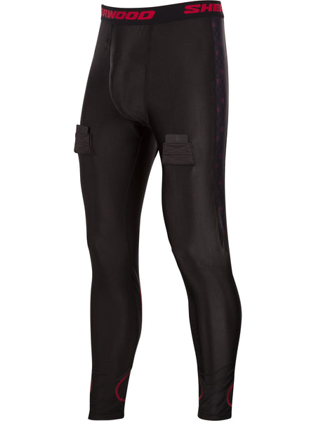 Pantalon avec support athlétique (tendon d'achille/mollet) Sherwood, senior T100 Pro