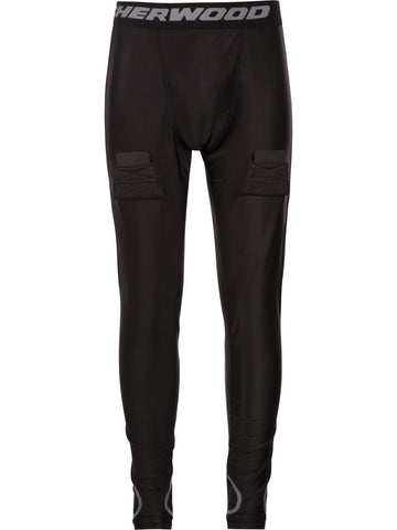 Pantalon avec support athlétique (tendon d'achille/mollet) Sherwood, junior T100 Pro