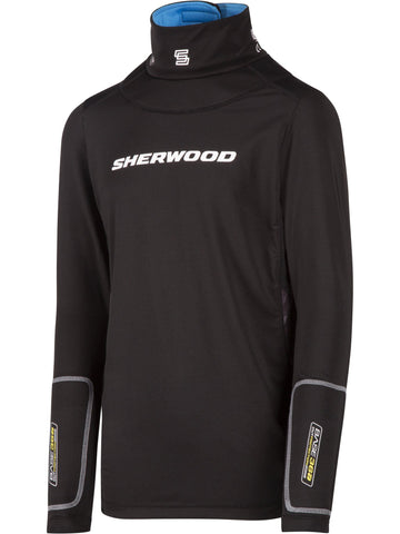 Sherwood T100 Pro Long Sleeve Shirt with Neck Guard Junior