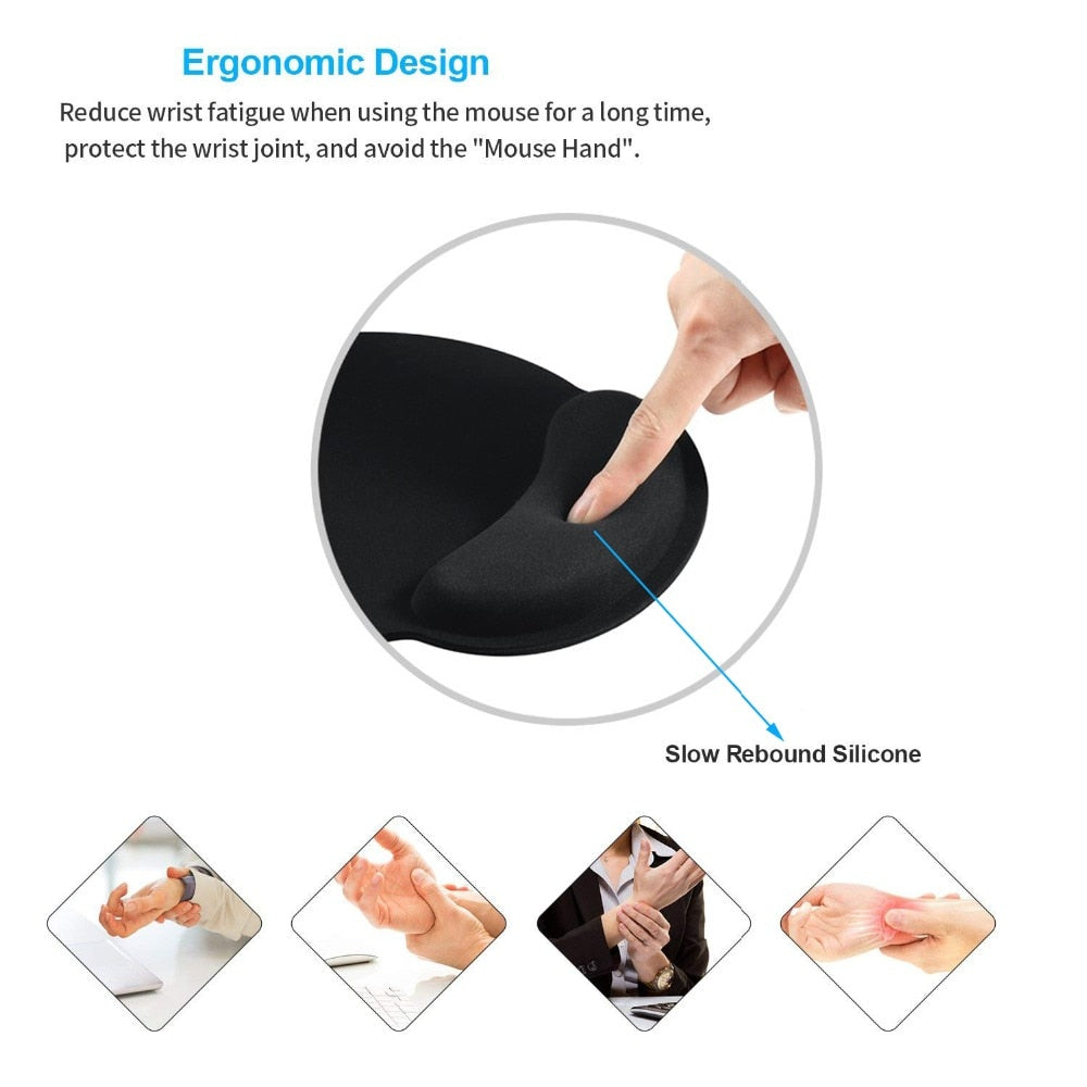Wrist Support Pads - With Memory Foam & Gel