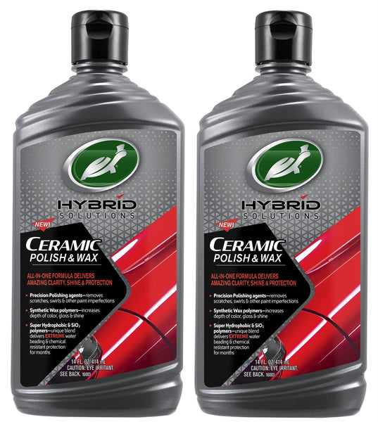 Hybrid Solutions Ceramic Polish & Wax 14 Fl Oz. (2 Pack) - turtle-wax-us-store