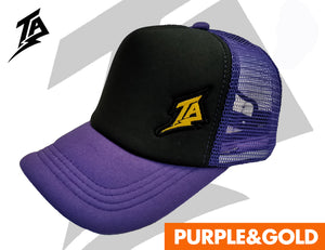TRUCKER CAPS PURPLE/GOLD
