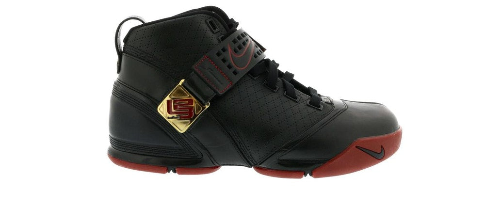 Nike LeBron 5 Black Crimson Metallic Gold (PREOWNED)