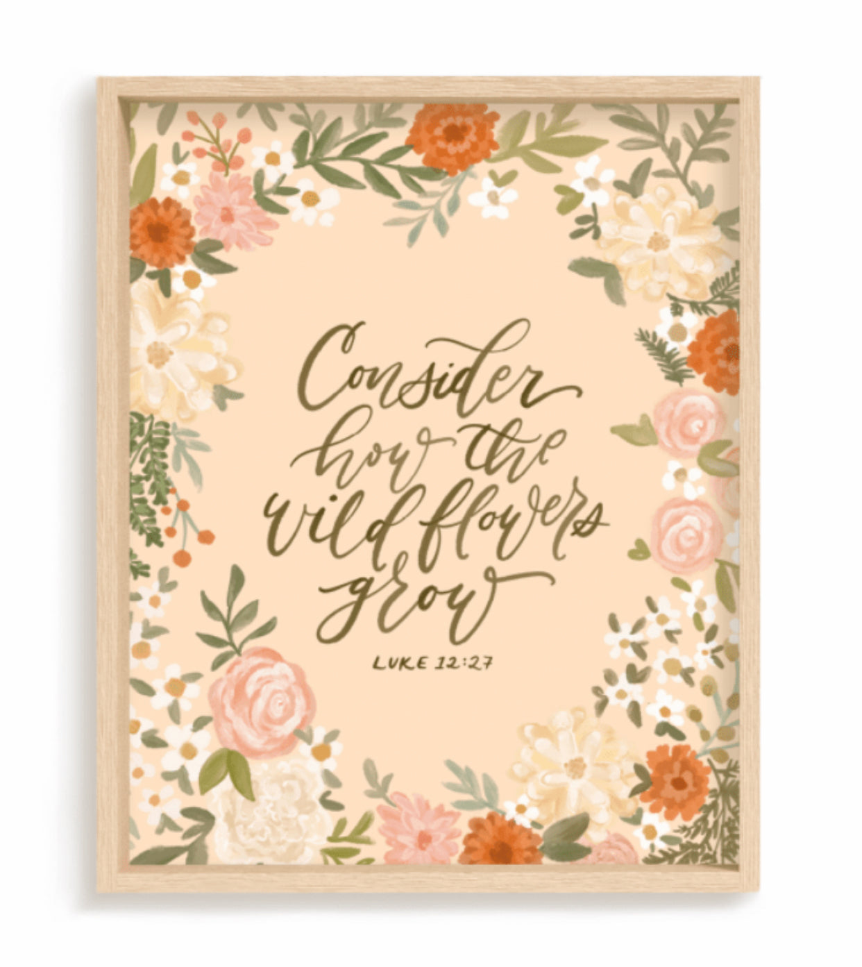 """Consider How the Wildflowers Grow (Luke 12:27)"" (PRINT) 5x7"