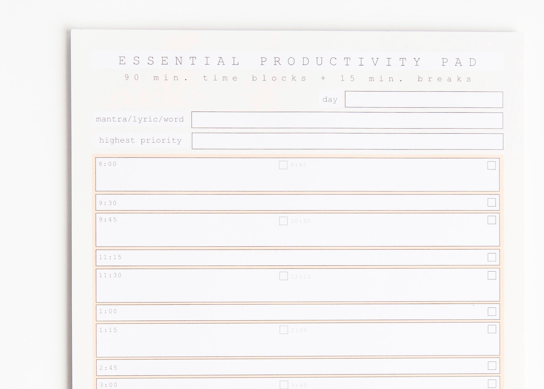 Essential Productivity Pad (Notepad)
