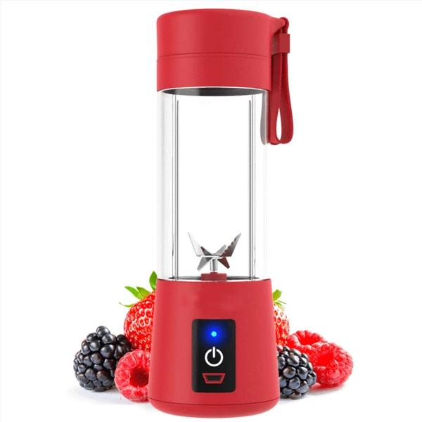 133 Portable USB Electric Juicer - 6 Blades (Protein Shaker)