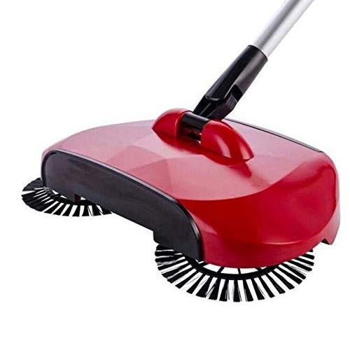 220 Sweeper Floor Dust Cleaning Mop Broom with Dustpan 360 Rotary