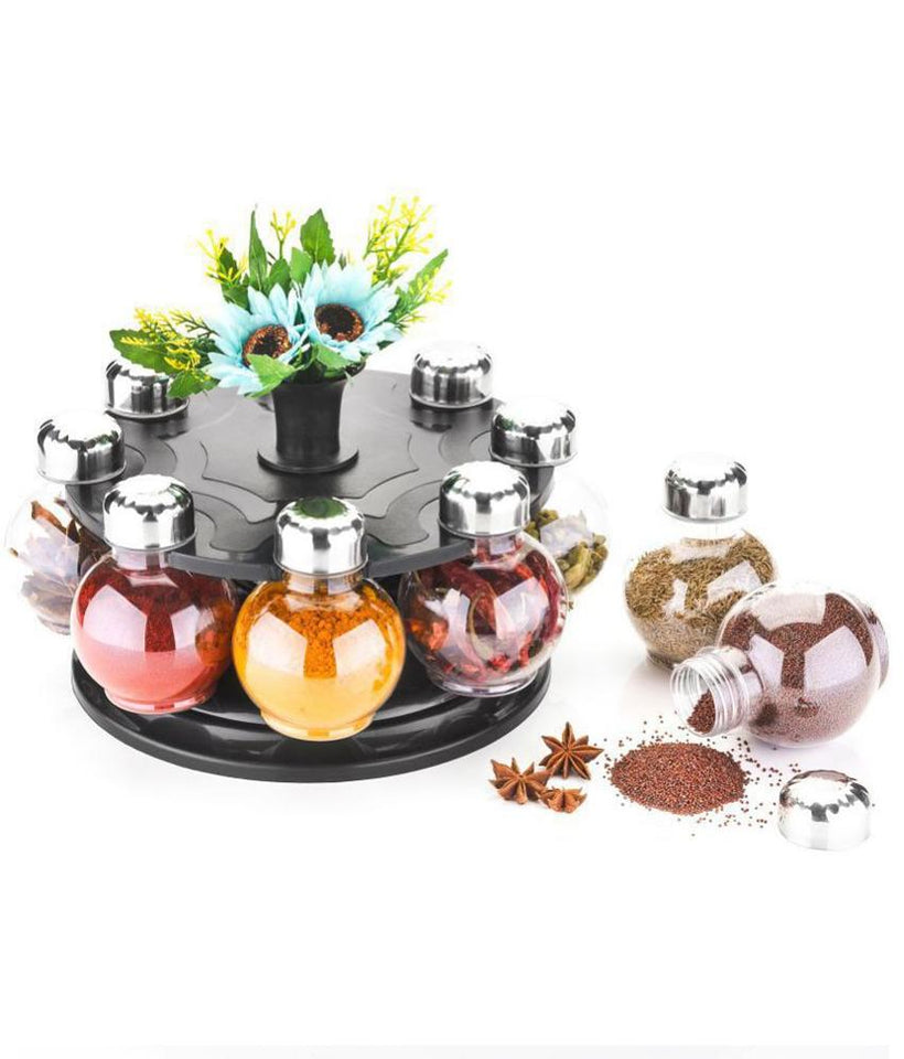 745 Multipurpose Revolving Plastic Spice Rack Set (8 pcs)