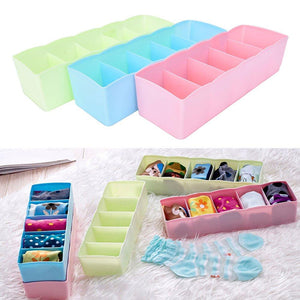 236 5-Compartments Socks/Handkerchief/Underwear Storage Box Socks Drawer Closet Organizer Storage Boxes (pack of 4)