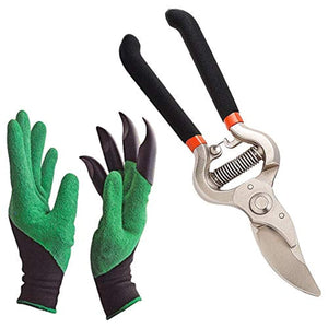 Homestoremart Gardening Tools - Gardening Gloves and Flower Cutter/Scissor/Pruners