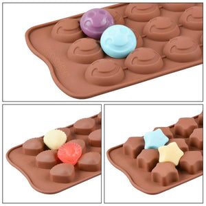 742_Silicon Chocolate Molds, Candy Making Silicone Molds, Mini Baking Molds (Random Design 1 unit)