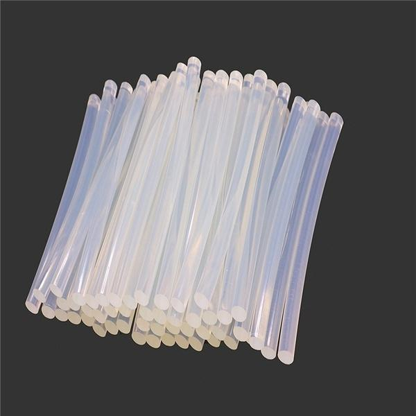 483 Transparent HOT MELT Glue Sticks for DIY and Craft Work Big 10 mm 8 inch  (Set of 40)