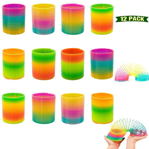 871 Rainbow Magic Slinky Spring Toy (Pack of 12)