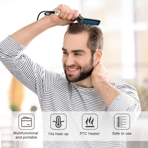348 Men's Beard and Hair Curling Straightener (Modelling Comb)