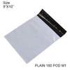 901 Tamper Proof Courier Bags(8X10 PLAIN 180 POD M1) - 100 pcs