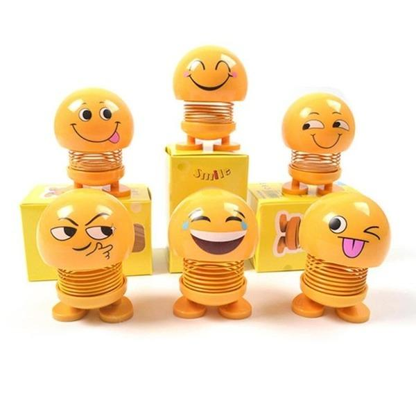 602 Emoticon Figure Smiling Face Spring Doll (1 PIECE SPRING DOLL )