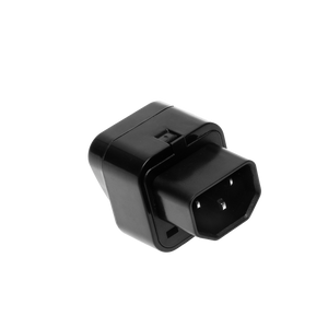 Male IEC to Universal Mains Socket Adapter