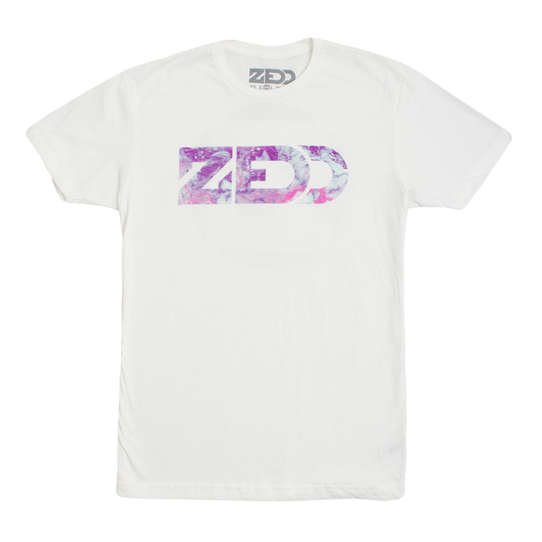 Marbled Logo White Tee