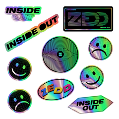Inside Out Holographic Sticker 10 Pack [LIMITED PRE-ORDER]