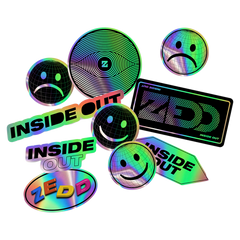 Inside Out Holographic Sticker 10 Pack [LIMITED]