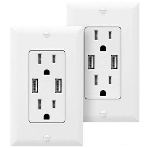 USB Wall Outlet High Speed Charger Wall Plate