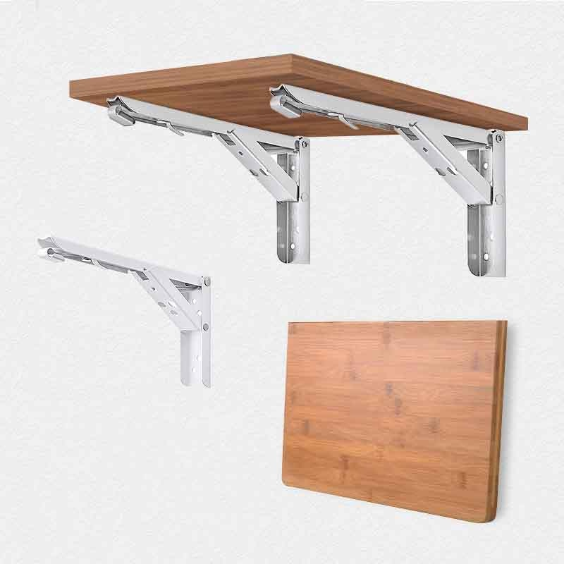 Foldable Wall Shelf Bracket (2 pcs)